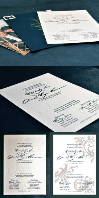 Navy, Gold, and Off White Letterpress Wedding Invitation by Sarah (whynoteight.wordpress.com)