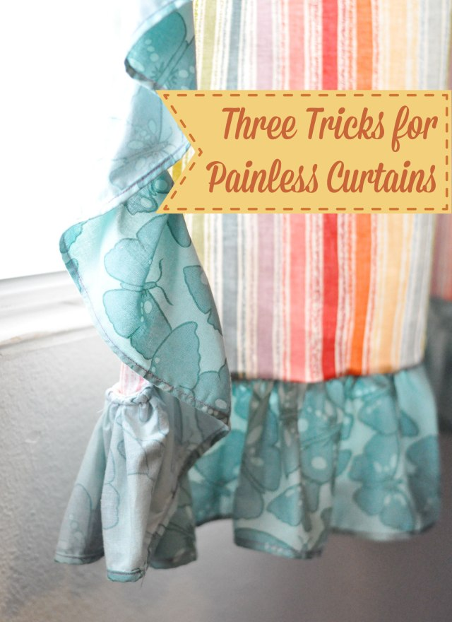 3 Tricks for sewing painless curtains